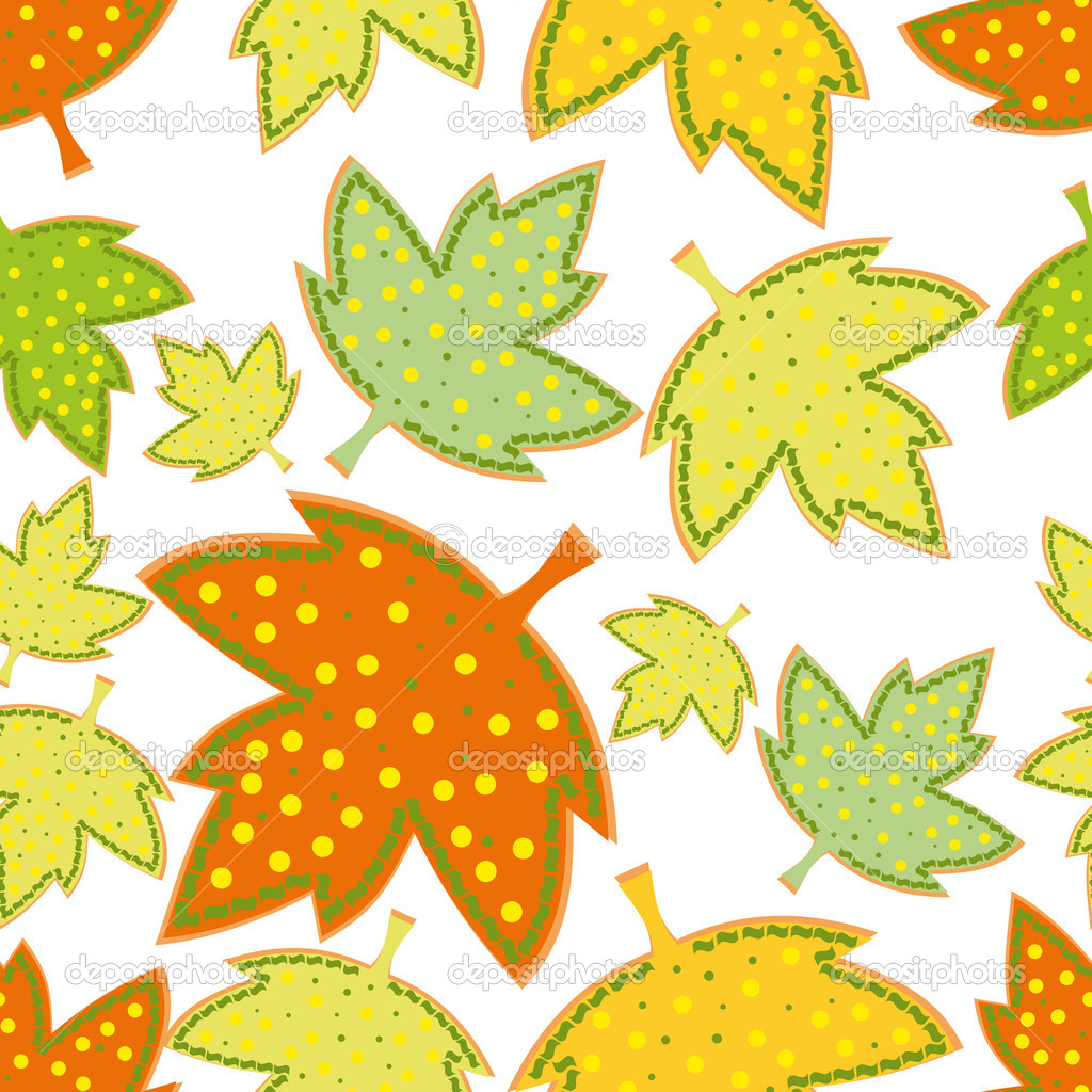 Colorful leafs - seamless pattern  Stock Vector #11268904