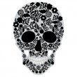 Black skull — Stock Vector