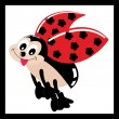 Stock Vector: Illustration of comical ladybird