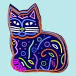 Decorative beautiful cat — Stock Vector