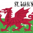 Royalty-Free Stock Vector Image: Wales flag. St David's Day