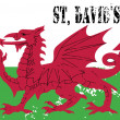 Wales flag. St David's Day — Stock Vector