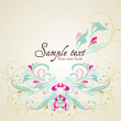 Vector flower background — Stock Vector #11327105