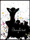Beautiful woman silhouette — Stock Vector