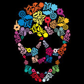 Black skull — Stock Vector