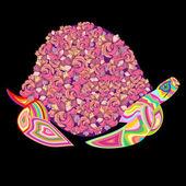 土地海龟在沙滩上 — 图库矢量图片