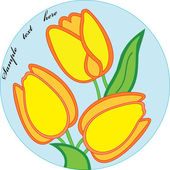 Nice, tulips in circle — Vettoriale Stock