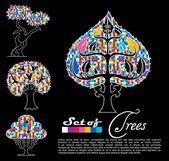 抽象树。矢量. — 图库矢量图片