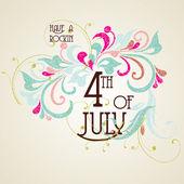Четыре старинные карты американский день независимости — Cтоковый вектор