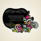 Elegance vintage frames for your text — Stock Vector
