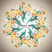Vintage card design for greeting card — Stock Vector