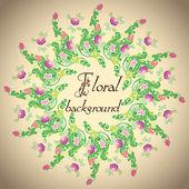 φόντο λουλούδι φορέα — Διανυσματικό Αρχείο