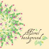 Vector bloem achtergrond — Stockvector