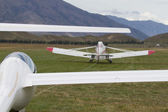 Glider take off — Stock Photo