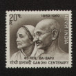 Mahatma Gandhi and his wife Kasturba INDIA - CIRCA 1969 — Stock Photo