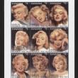 Royalty-Free Stock Photo: Vintage stamp with Marilyn Monroe TANZANIA - CIRCA 2000