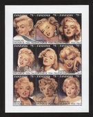 Vintage stamp with Marilyn Monroe TANZANIA - CIRCA 2000 — Stock Photo