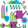 Royalty-Free Stock Vector Image: Template of garden objects