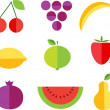 Fruit forms with fruits template — Stock Vector #11220552