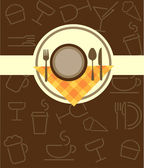 Menu template for restaurant or coffee bar — Stock Vector