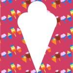 Different ice-cream icons — Stock Vector
