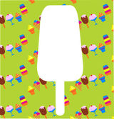 Different ice-cream icons — Vector de stock