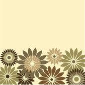 Retro card of flowers — Stock Vector