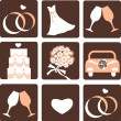 Wedding icons — Stock Vector #11371082