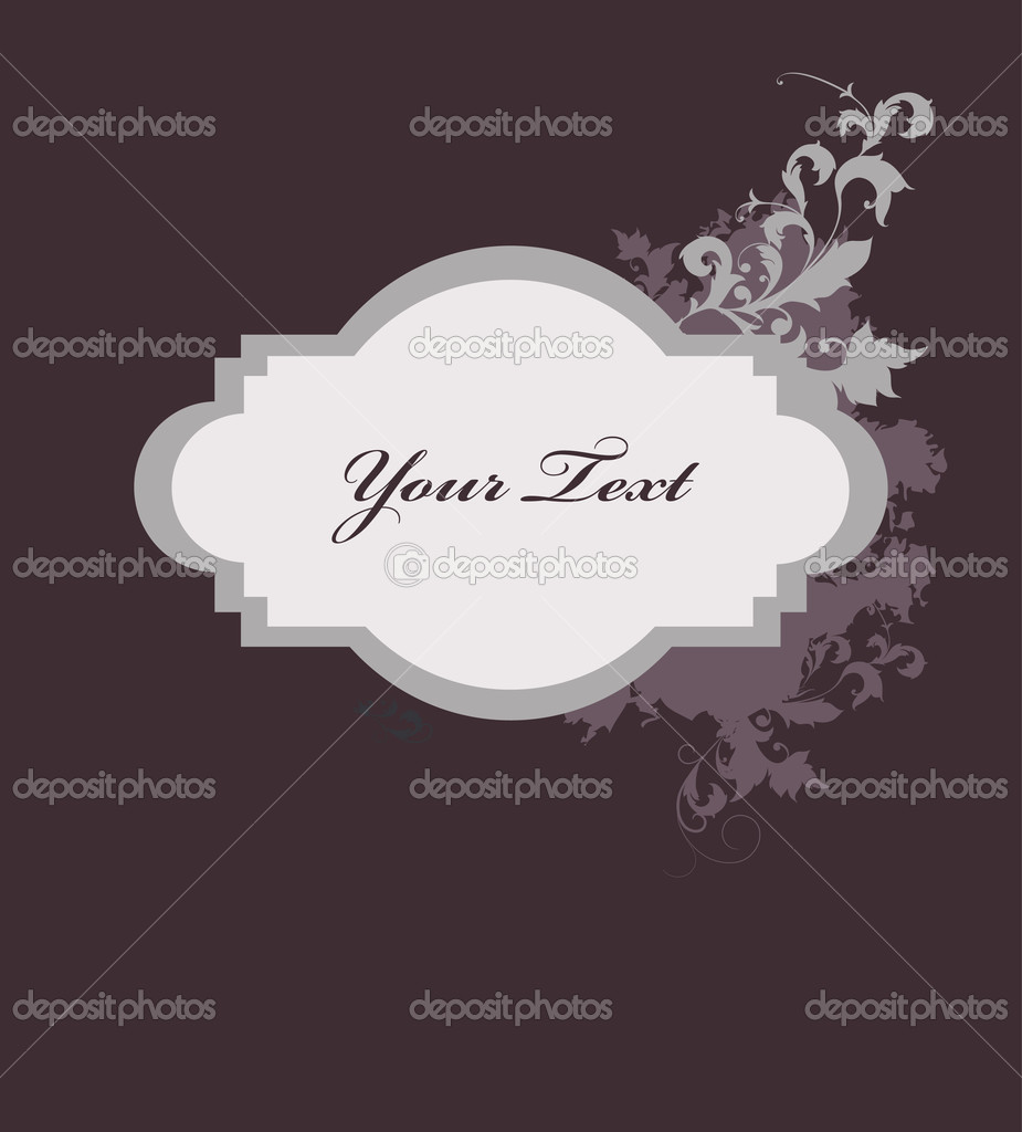 Vintage frame with flowers — Stock Vector #11372168