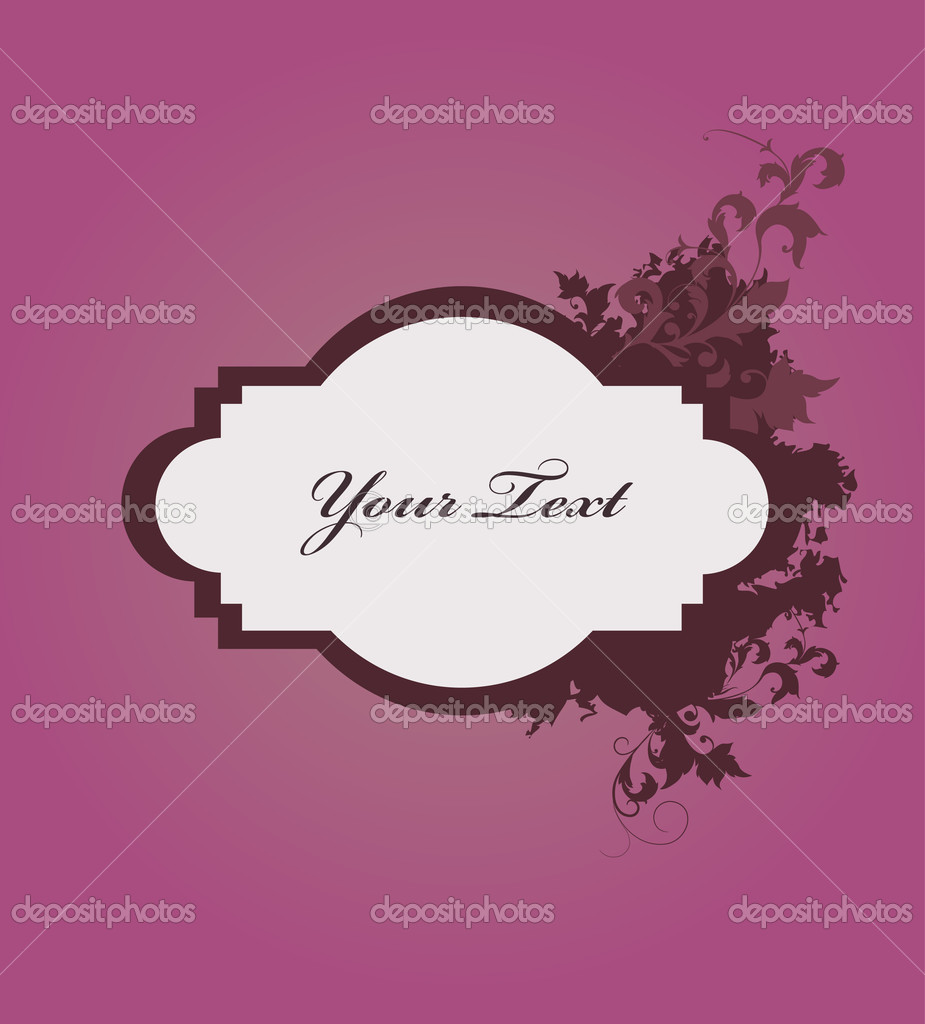 Vintage frame with flowers  Stock Vector #11372174