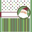 Christmas greeting card, template — Stock Vector