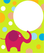 Pink eilephant on colorful background — Stock Vector