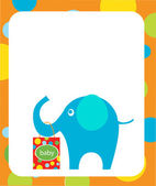 Elephant holding shopping bags for baby — Stock Vector