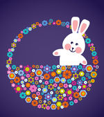 复活节贺卡与兔子 — 图库矢量图片