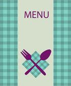 Restaurant menu design with table utensil — Stock Vector