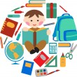 Royalty-Free Stock Vector Image: School and office supplies