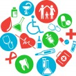Stok Vektör: Collection of medical themed icons