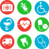 Collection of medical themed icons — Cтоковый вектор