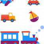 Toy transportation set — Stock Vector #12282022