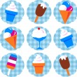 Colorful ice-cream set — Stock Vector