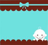 Baby boy birthday card — Stock Vector