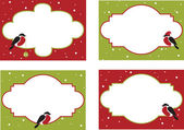 Four frames of christmas cards — Vettoriale Stock