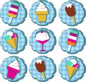 Colorful ice-cream set — Stock Vector