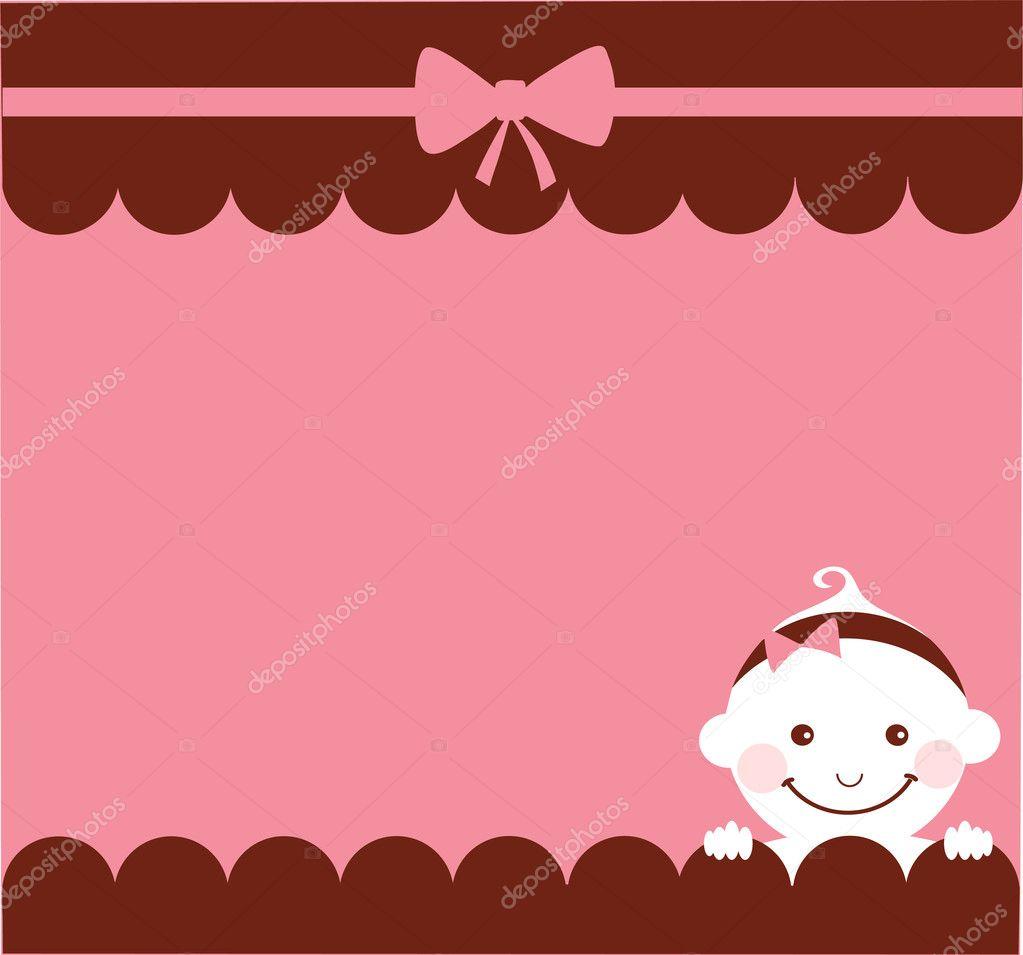 baby girl birthday card  stock vector © zoyalipets, Birthday card