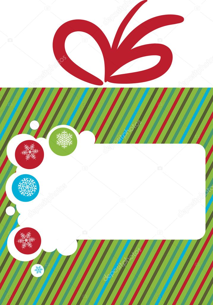 Greeting card for christmas, vector illustration — Stock Vector #12282008