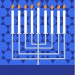 Happy Hanukkah- Jewish holiday - Stock Vector