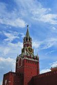Clock of the Kremlin in Moscow, Russia (Spasskaya tower) — Stock Photo