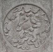 Sculpture stone in Zhengzhou, China (Gateway of Shaolin Temple) — Stock Photo