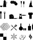 The kitchen icons — Stock Vector