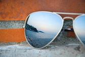Gözlük günbatımı — Stok fotoğraf